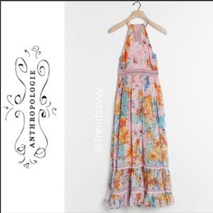 ANTHROPOLOGIE Bhanuni Jyoti Yuko Halter Maxi Dress